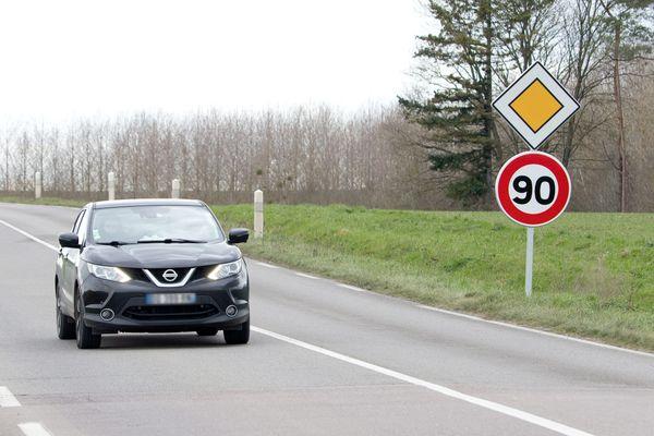 A partir de janvier 2021, 225 km de routes seront à nouveau limitées à 90 km/h.
