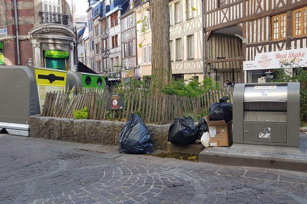 De nouveaux containers ont été installés mais les déchets continuent de déborder dans l'agglomération rouennaise.