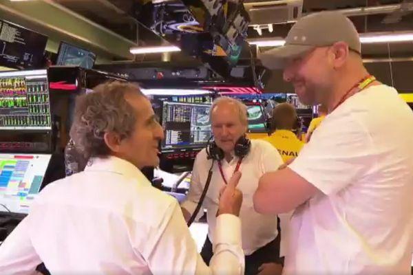 Prost et Lopez en conversation à Abu Dhabi