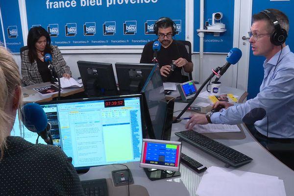 Le studio de la matinale de France Bleu Provence à Aix-en-Provence.
