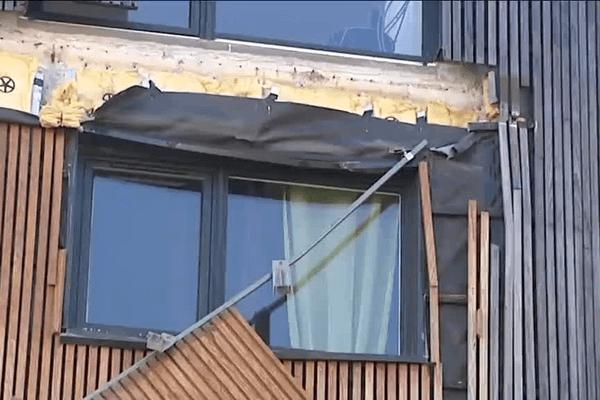 À Bordeaux dans le quartier Ginko, le balcon d'un immeuble s'est effondré.