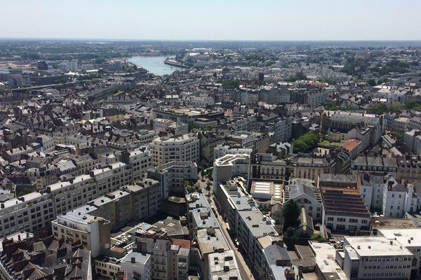 La ville de Nantes vue de la Tour Bretagne