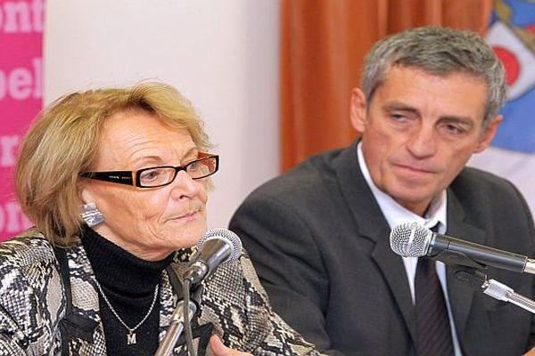 Hélène Mandroux, maire sortante de Montpellier et Philippe Saurel - archives