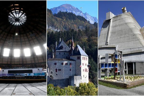 La rotonde ferroviaire de Chambéry, le château de Menthon-Saint-Bernard et le site Le Corbusier de Firminy sont en lice pour la sélection du monument préféré des Français en Auvergne-Rhône-Alpes.