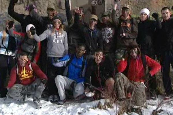 """Les stagiaires """"commandos"""" d'OTC Boot-camp à Bassens en Savoie."""