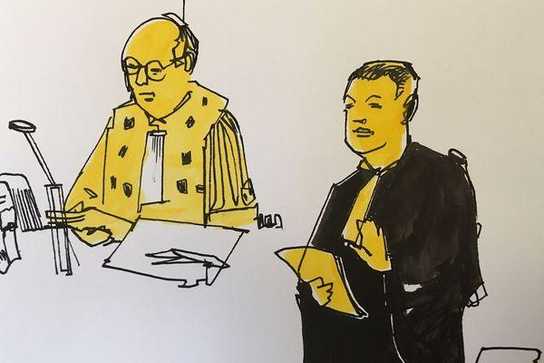 L'avocat général David Sénat et maître Laurent Boguet, avocat de la famille de la victime.