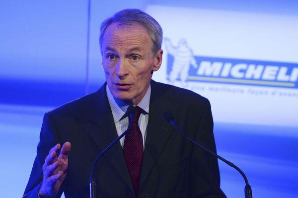 Jean-Dominique Senard, président du groupe Michelin, a annoncé un bénéfice net historique lundi 12 février 2018