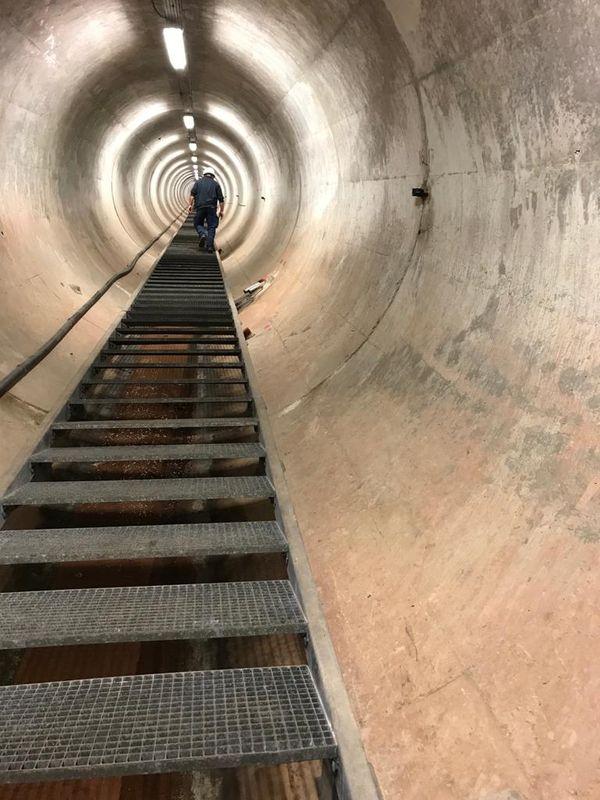 A l'intérieur du barrage du Salagou - 4/03/2021
