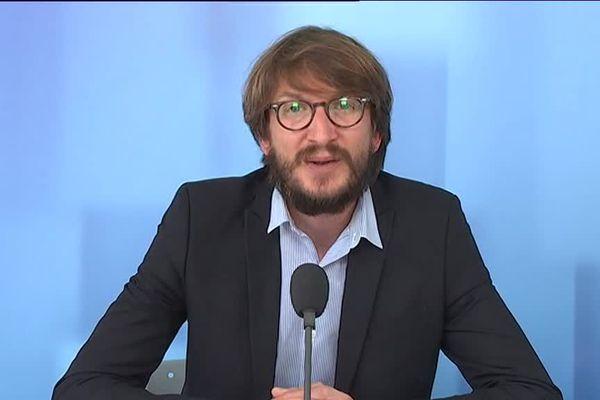 Nicolas Matuszak, avocat au Barreau de Metz, sur le plateau du 12/13 Lorraine
