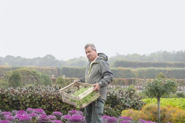 Portrait du chef jardinier au château de Villandry, 2019.