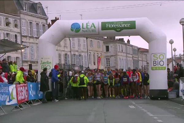 Le départ du marathon en 2018.
