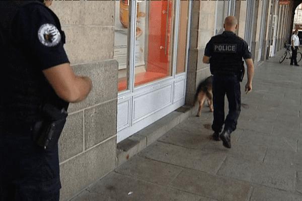 Une patrouille de police à Rennes