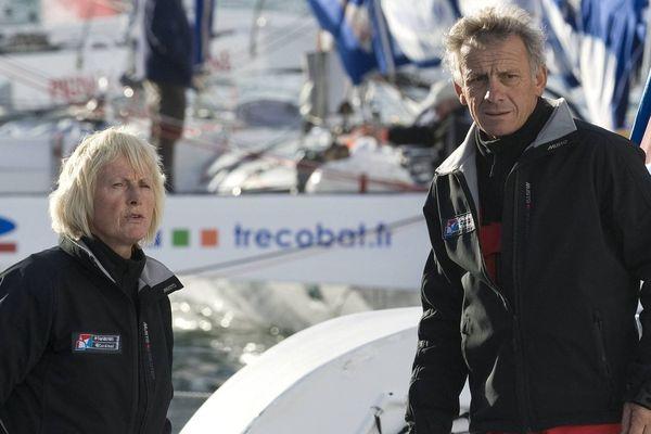 Alain Maignan avec son épouse, pour un confinement choisi, au départ d'une régate