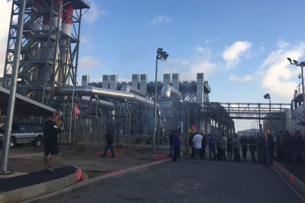 16/10/14 - Blocage de la centrale de Lucciana (Haute-Corse) par la CGT