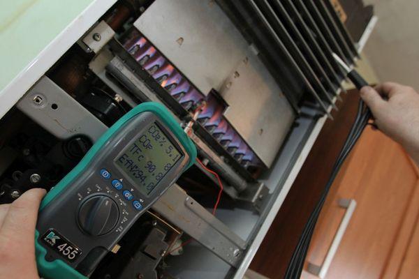 ILLUSTRATION - Détection de monoxyde de carbone sur une chaudière