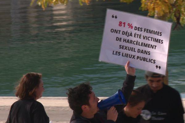 Campagne de lutte contre le harcèlement de rue sur les berges du Rhône à Lyon