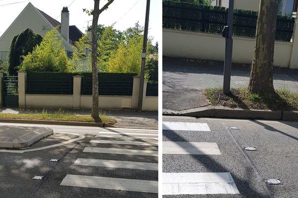 Passage piétons à leds, avenue Marcel-Dassault.