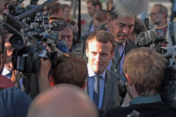Emmanuel Macron lors de sa venue à Strasbourg