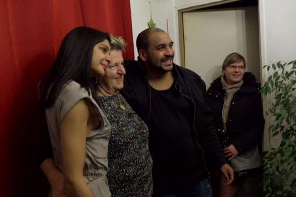 Myriam Vignes a pu reprendre contact avec sa famille d'accueil.