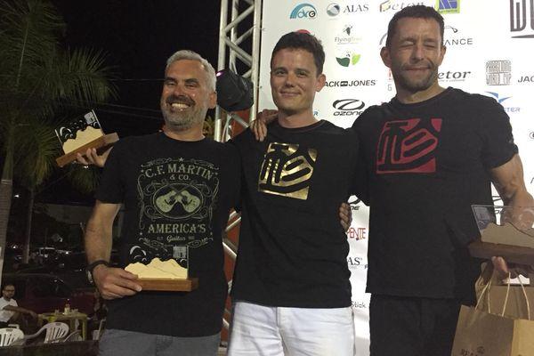 Stéphane Poulain à gauche, est vice-champion du monde de parapente