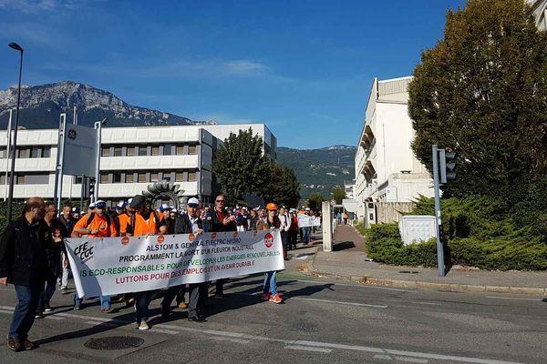 Environ 250 salariés ont défilé le 22 septembre.