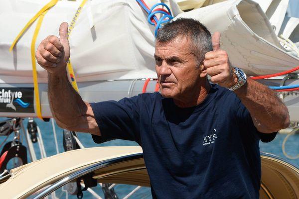 Istvan Kopar, en juillet 2018, deux jours avant le départ de la course à la voile autour du monde et sans escale