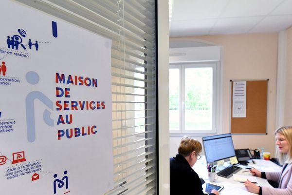 Illustration maison de services au public, MSAP, maisons de services au public, guichets d'accueil polyvalent, le 06-05-19 à Dun-sur-Auron (Cher)