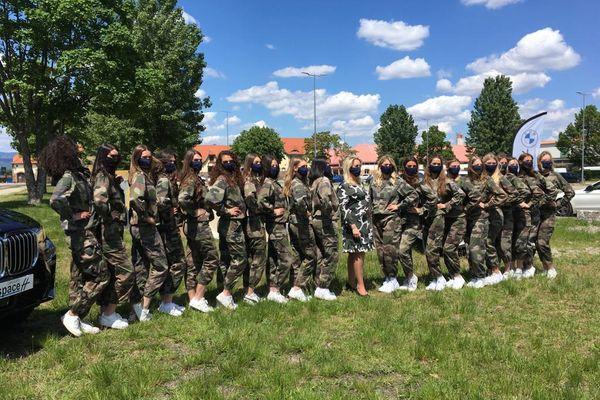 Les candidates au titre de Miss Alsace 2021 se sont présentées ce samedi 29 Mai en tenue de combat, à la caserne de Colmar.