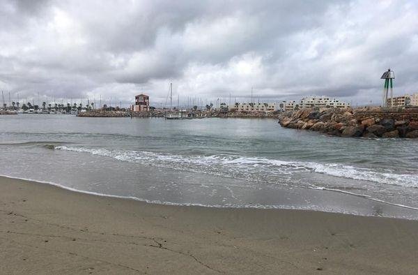 Le port du Barcarès, vendredi 24 janvier au matin