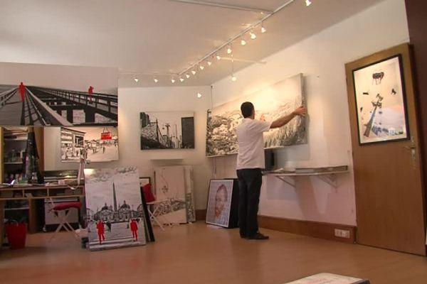 Olivier Tops expose à Megève, en même temps que les photographies de ses parents et grand-parents.