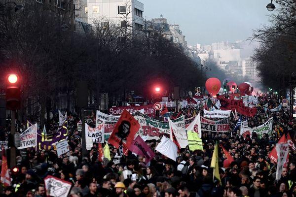 Manifestation parisienne contre la réforme des retraites, le 16 janvier (illustration).