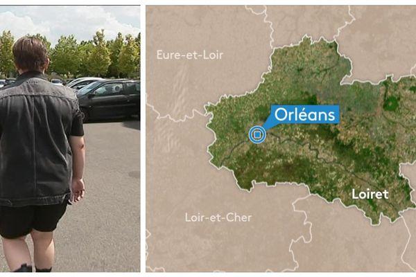 Johan, victime d'une violente agression transphobe à Orléans.
