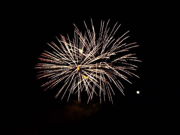 Le feu d'artifice de Wasselonne, au même endroit.
