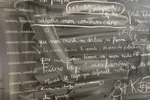 Un mur d'expression à la gare Lyon Part-Dieu