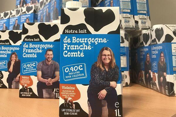 La fromagerie Delin se lance dans la vente de briques d'un lait acheté à une quinzaine d'éleveurs de Bourgogne-Franche-Comté, au-dessus du prix moyen national.