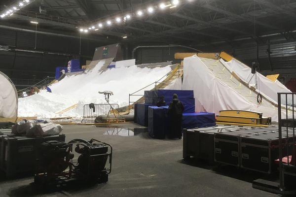 """350 m3 de neige vont être produits pour accueillir le premier """"White festival"""" d'Albertville."""
