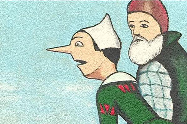 Pinocchio, tel qu'imaginé par le premier illustrateur Attilio Mussino.