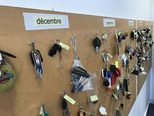Le tableau où sont exposées toutes les clés trouvées.