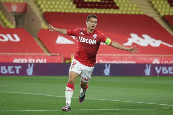 L'AS Monaco affronte Rennes lors de la 37e journée du championnat de France de Ligue 1, le dimanche 16 mai 2021 au stade Louis II de Monaco. Les maillots des joueurs seront vendus aux enchères