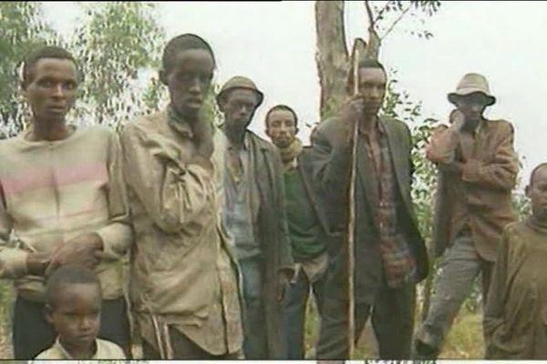 Image d'archives : réfugiés tutsis