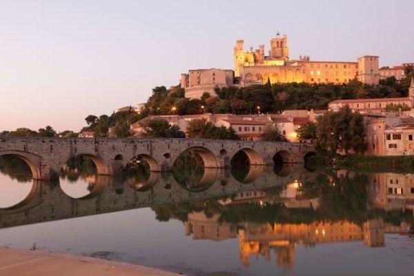 La ville de Béziers (Hérault)