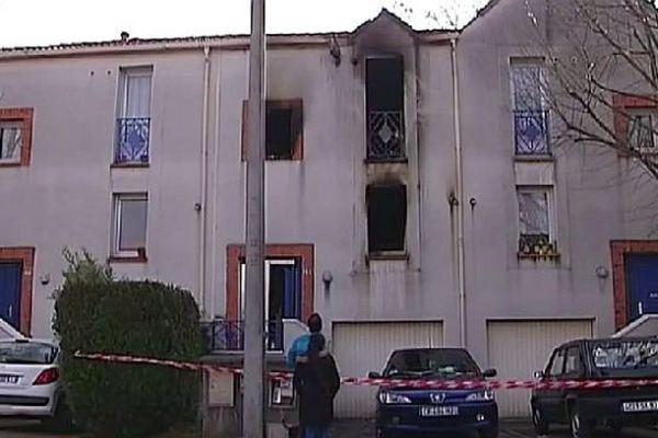 Livry-Gargan (Seine-Saint-Denis) - la maison où la jeune pompier audoise a été grièvement brûlée, vendredi - mars 2015.