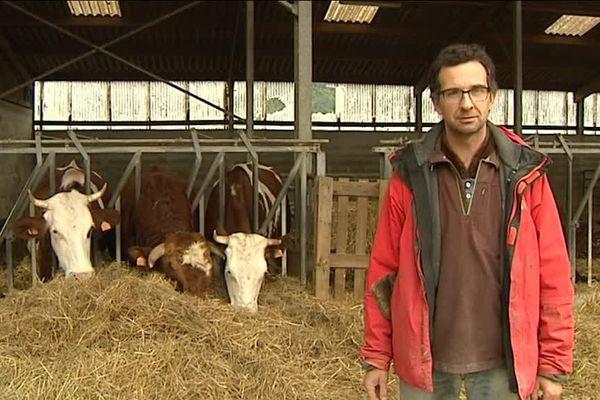 Jean-Thomas Souvigné, agriculteur bio à la ferme de la Loue