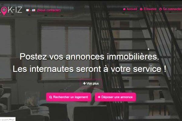 Un des messages du site internet d'annonces immobilières.