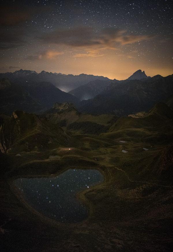 Lac du Montagnon, au-dessus d'Aydius (Pyrénées-Atlantique)