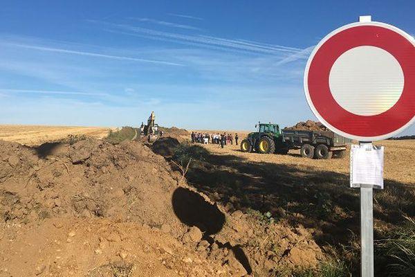 Destruction de routes dans le pays de Courville (Eure-et-Loir)