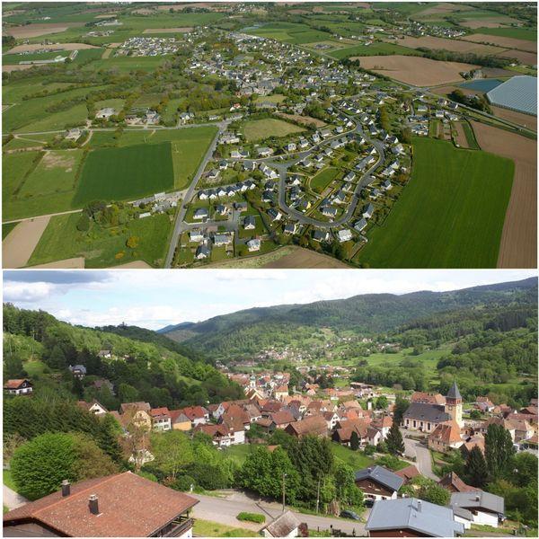 Kermaria Sulard vue du ciel, Muhlbach-sur-Munster vu du sol : les deux communes sont jumelées depuis plus de 25 ans.