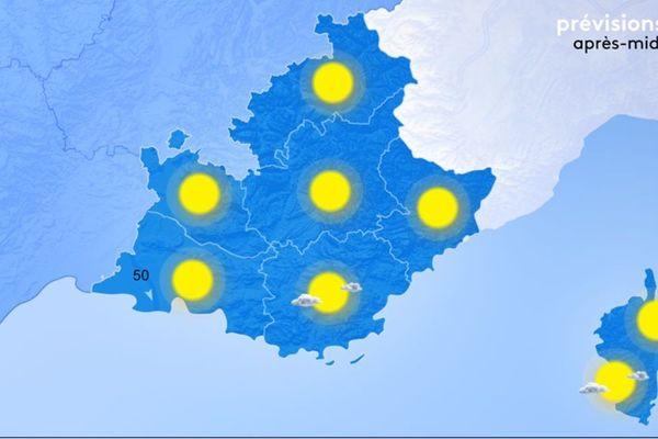 Le temps est sec et ensoleillé sur l'ensemble de notre région.