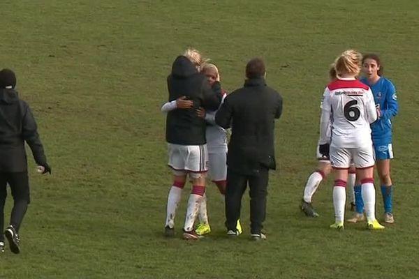 Les footballeuses de Soyaux ont été battues 5 à 0 par l'Olympique Lyonnais.