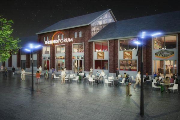 Vue d'architecte du futur cinéma de Dieppe